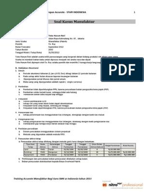 Contoh Soal Siklus Akuntansi Perusahaan Manufaktur ...