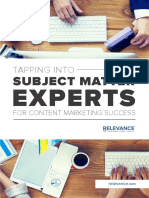 E Book Quick Guide to Marketing With Subject Matter Experts V6