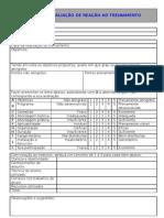 FORM. RH011 V.00 AVALIAÇÃO DE REAÇÃO AO TREINAMENTO