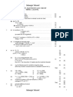 Current , Electricity & Dc Circuit(Final)Marks Scheme