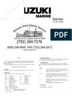 Suzuki Outboard Engine DT-40 Parts Catalogue