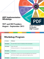 Provider PD Workshops August Sept 2013
