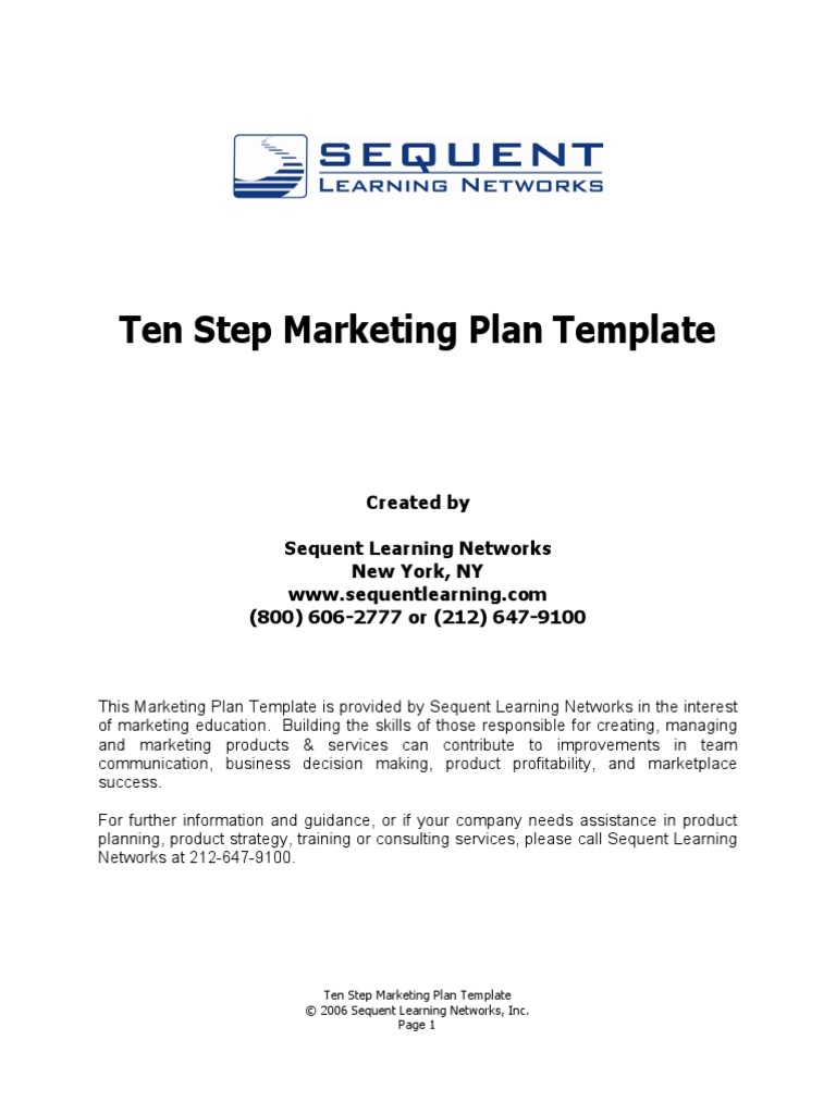 the 10 step marketing plan template swot analysis strategic management