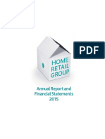 Home Retail Group Plc Annual Report and Financial Statements 2015