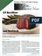 Emmett 2011 Beryllium and Beefsteak