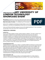 Queen Mary University of London Technology Showcase Event