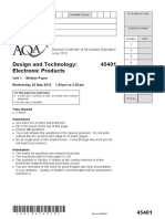 AQA Electronic Products Q.P - 2013