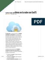 Cifra Tus Archivos en La Nube Con EncFS