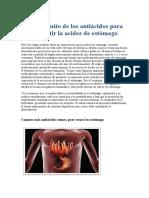 El falso mito de los antiácidos para combatir la acidez de estómago