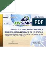Certificado de Artigo SIMPEP