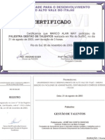 Certificado Palestra Gestao Talentos