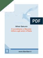 Bakunin Il Socialismo e Mazzini