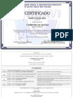 Certificado v Simposio Gestao