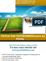 PSYCH 540 TUTORS Learn by Doing/psych540tutors.com