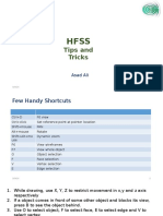 HFSS Tips and Tricks