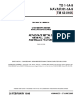TM-43-0106 - TECHNICAL MANUAL ENGINEERING SERIES FOR AIRCRAFT REPAIR  AEROSPACE METALS - GENERAL DATA AND USAGE FACTORS