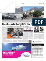 Bleek's scholarly life far from bleak - Weekend Argus April 30, 2016