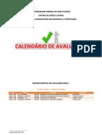 Calendário Avaliacoes 2016 1