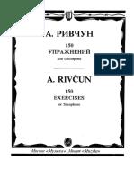 (Saxophone) a.rivchun - 150 Exercises for Saxophone