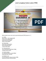 Sarawakiana.net-PRNSarawak Senarai Lengkap Calon-calon PRN Sarawak Ke 11