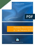 Partidos Reconocidos Al 1-02-2016