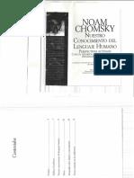 CHOMSKY Nuestro Conocimiento Del Lenguaje Humano p 12 a 83 (1)
