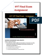 ACC 497 Final Exam Solutions