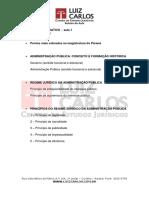 Magistratura Estadual Pr Modulo i Roteiro 001 Direito Administrativo Aula 01 Fernando Knoerr
