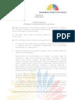 Constitución - Aplicación de Derechos