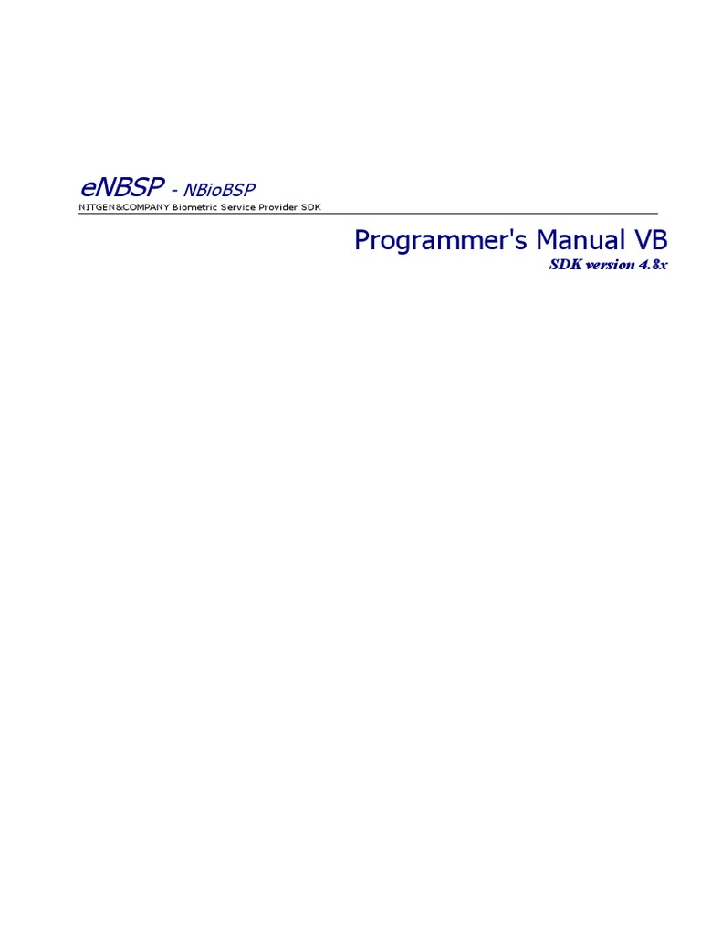 En ENBSP SDK Programmer's Guide COM With VB | Component Object Model