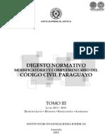Digesto Normativo Codigo Civil Paraguayo - Tomo III - Leyes 2013 a 2015 - Portalguarani