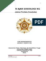 BAHAN AJAR SOSIOLOGI KG (Perubahan Perilaku Kesehatan) 15-16