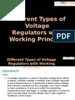 Different Types of Voltage Regulators With Working Principle