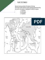 plate tectonics- map