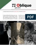 La rassegna stampa di Oblique di aprile 2016