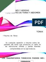 Contusiones y Heridas Penetrantes de Torax y Abdomen