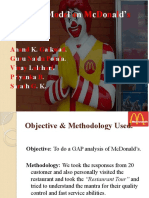 McDonald's GAP Analysis