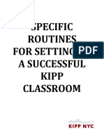 Setting Up Class for Success - Routines Checklist - Buckner-Ruiz