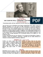 San Juan de Ávila -10 de Mayo Bilingue