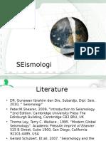 Lecture Seismologi