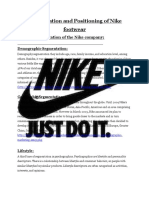 Segmentation and Positioning of Nike Footwear 2