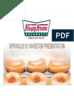 KKD Krispy Kreme Spring 2015 Krispy Kreme Investor Presentation v2