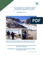 Informe final sobre Veladero