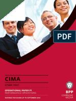 CIMA P1 Performance Operations Study Text 2013