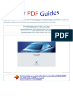 User Manual Mercedes Classe Clk Coupe e