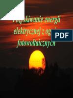 Pozyskiwanie Energii Elektrycznej z Ogniw Fotowoltaicznych