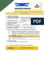 SILABO DE ORGANIZACIÓN Y ADMINISTRACIÓN DE SOPORTE TECNICO
