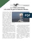 Rusia y China reaccionan contra Obama