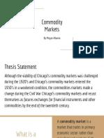 commodities markets