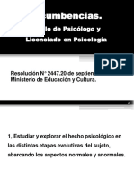 Titulo de Psicologia y Sus Incumbencias